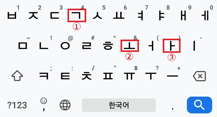 パソコン用配列での二重母音「과」の打ち方