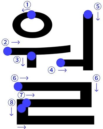 「月」を表す韓国語「월」の書き方&書き順