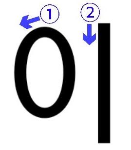 「~が」(直前のパッチム有)を表す이の書き順
